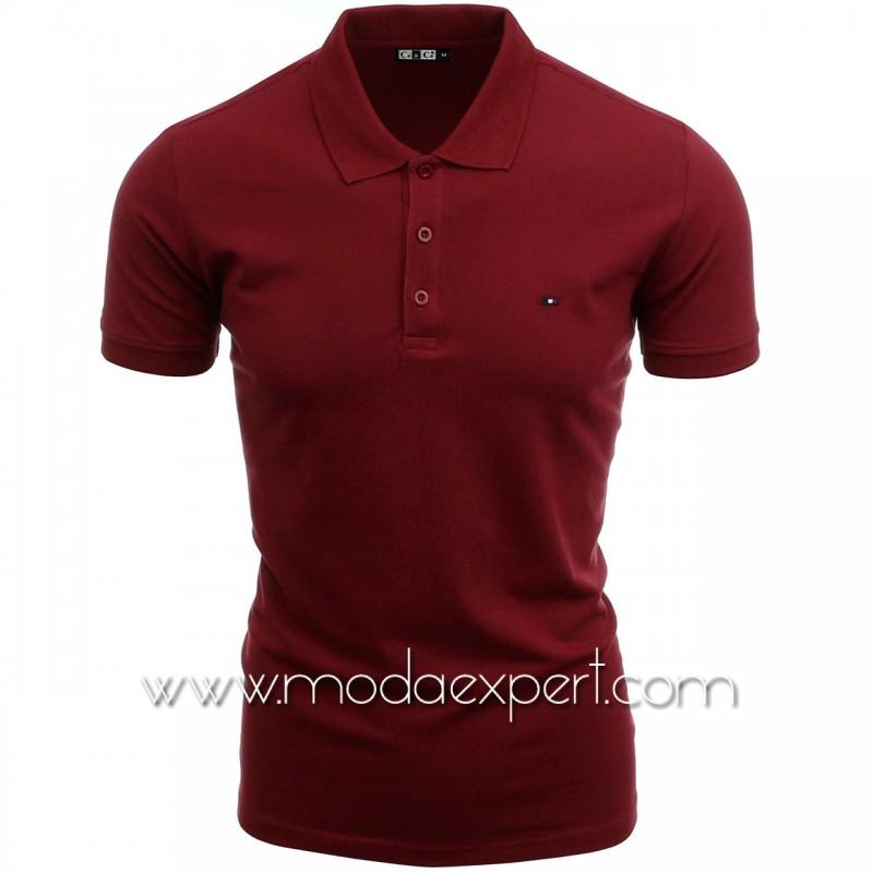 Мъжка тениска с яка №C7263-CR