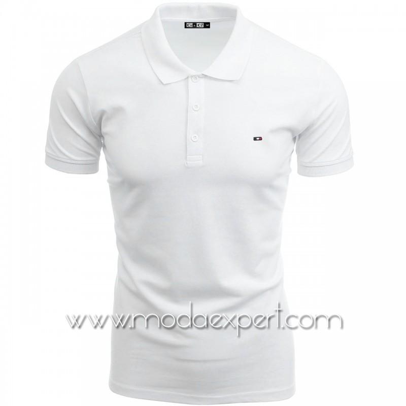Мъжка тениска с яка №C7263-W