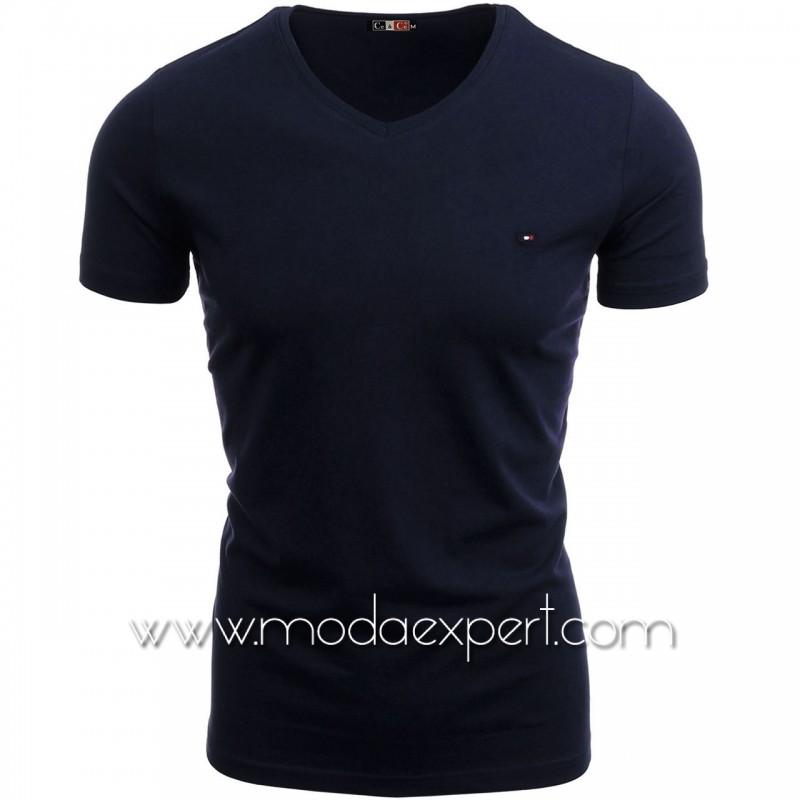 Тениска с V-образно деколте №C7063-S