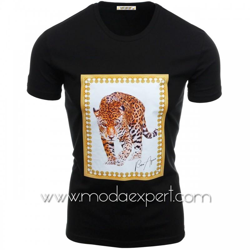 Мъжка тениска с щампа №14466-B