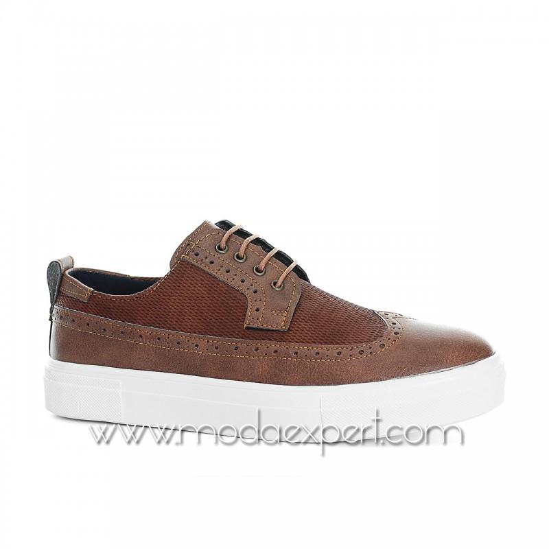 Кафяви спортно-елегантни обувки №408-K