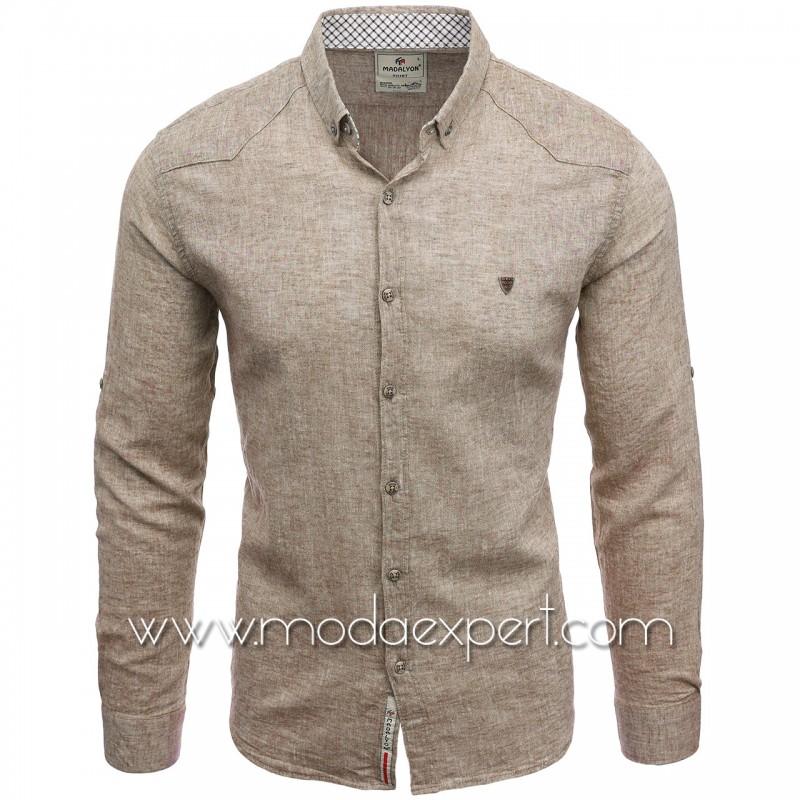 Мъжка ленена риза MD038BE