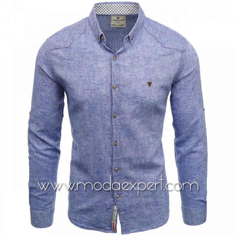 Мъжка ленена риза MD038BL