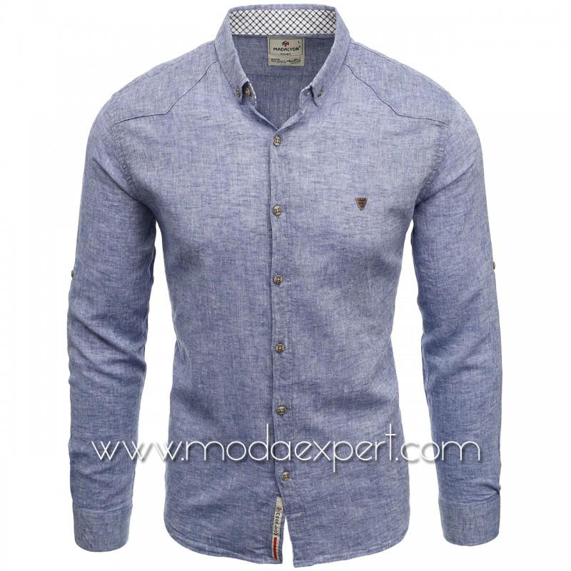 Мъжка ленена риза MD038DBL