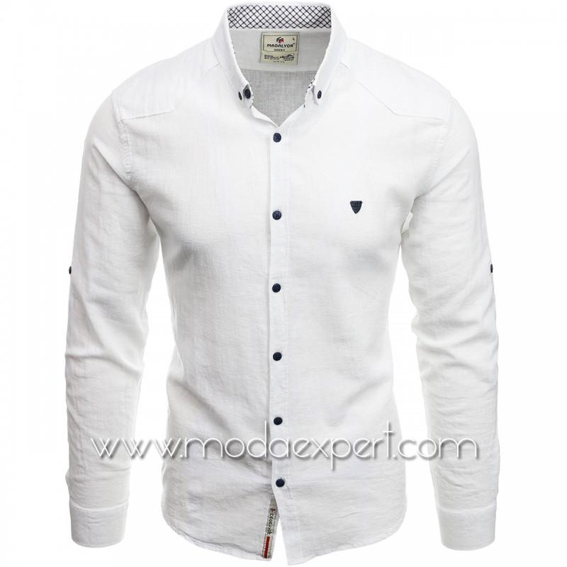 Мъжка ленена риза MD038W