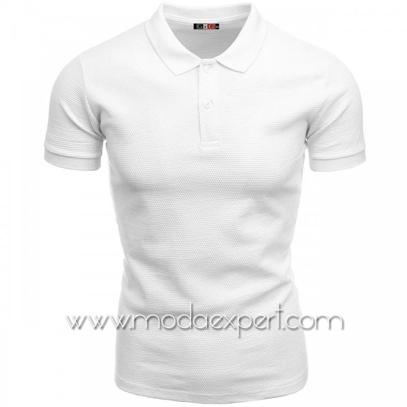 Мъжка тениска с яка №C1004-W