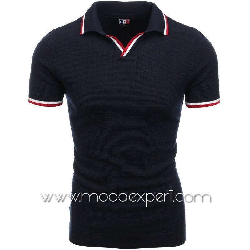 Мъжка тениска с яка №C6009-S