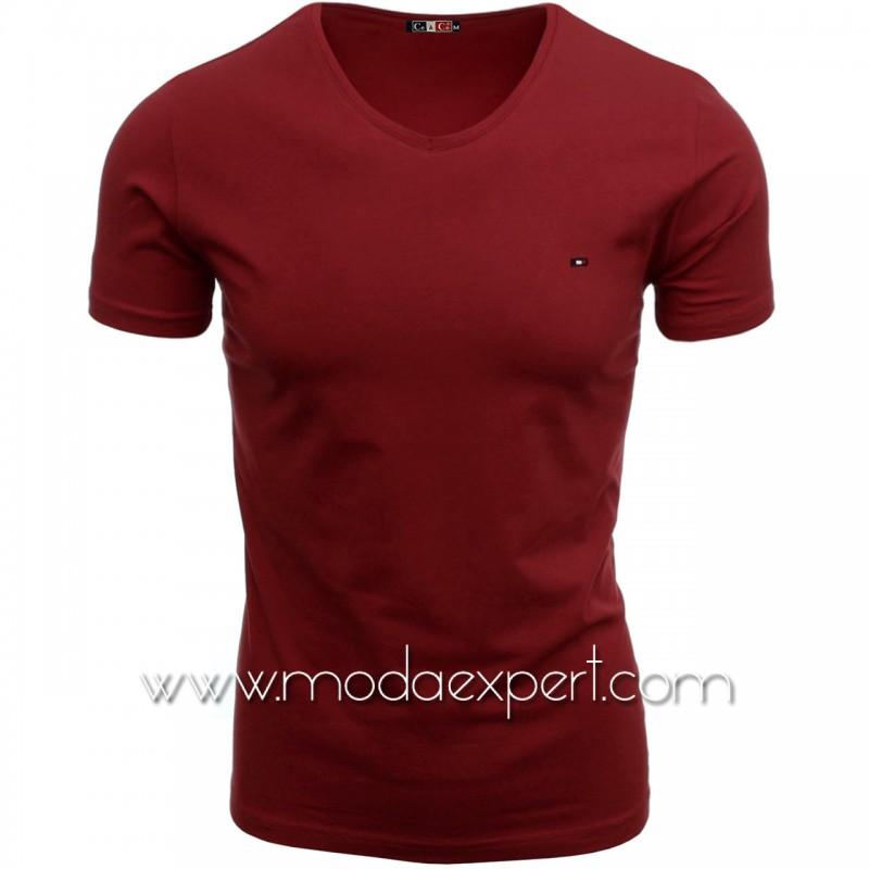 Тениска с V-образно деколте №C7063-CR