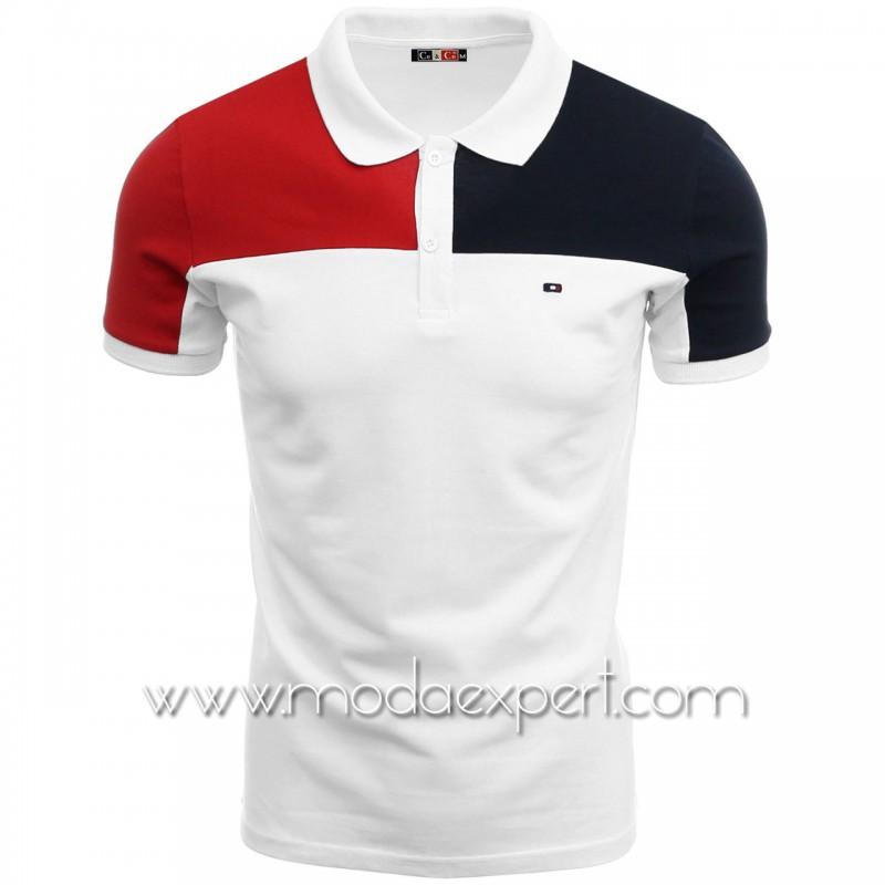 Мъжка тениска с яка C7348W