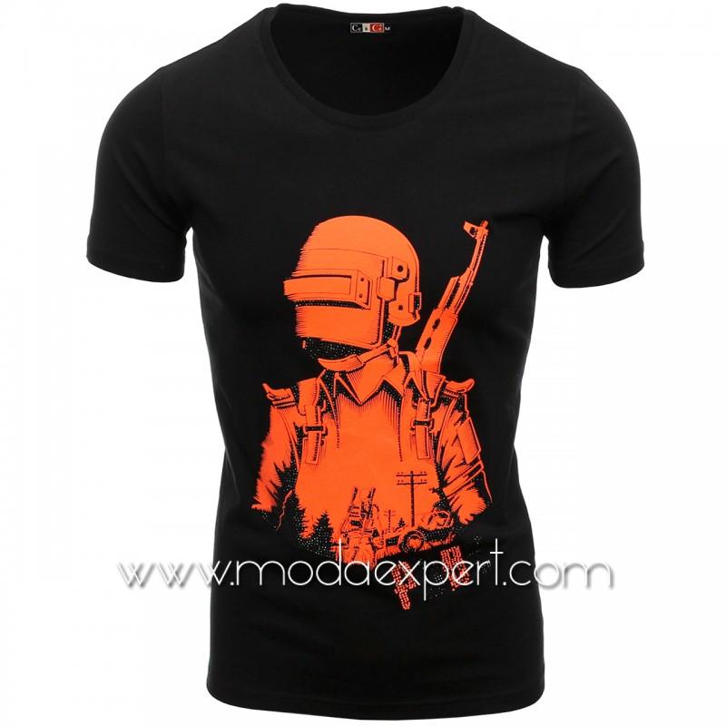 Мъжка тениска с камъни №C7481-B