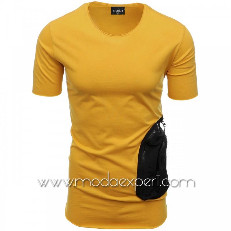 Мъжка тениска с двоен джоб №E002-M