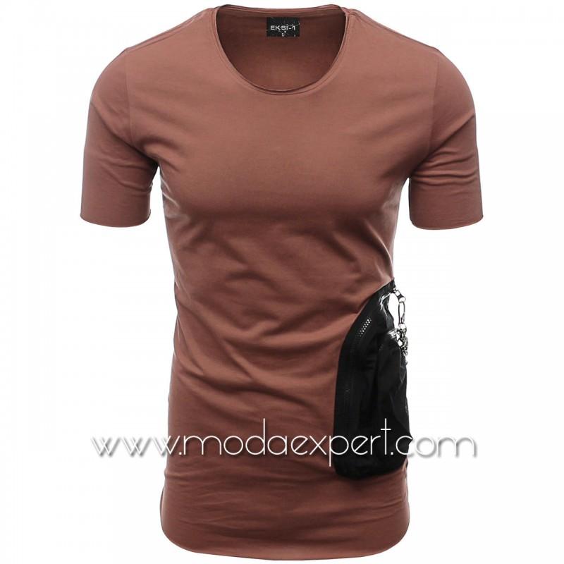 Мъжка тениска с двоен джоб №E002-T