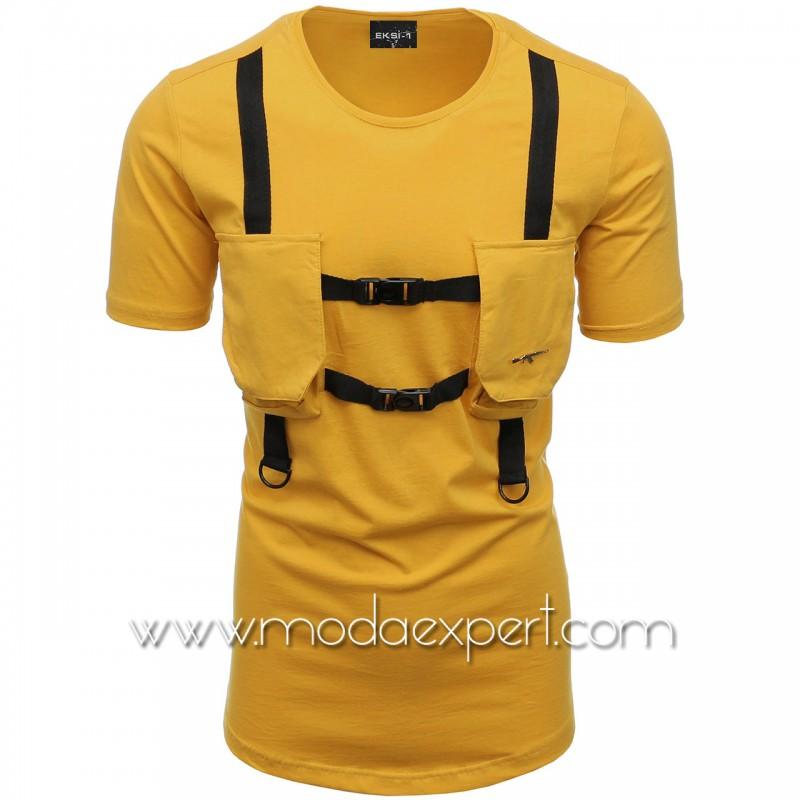 Мъжка тениска с джобове №E004-M