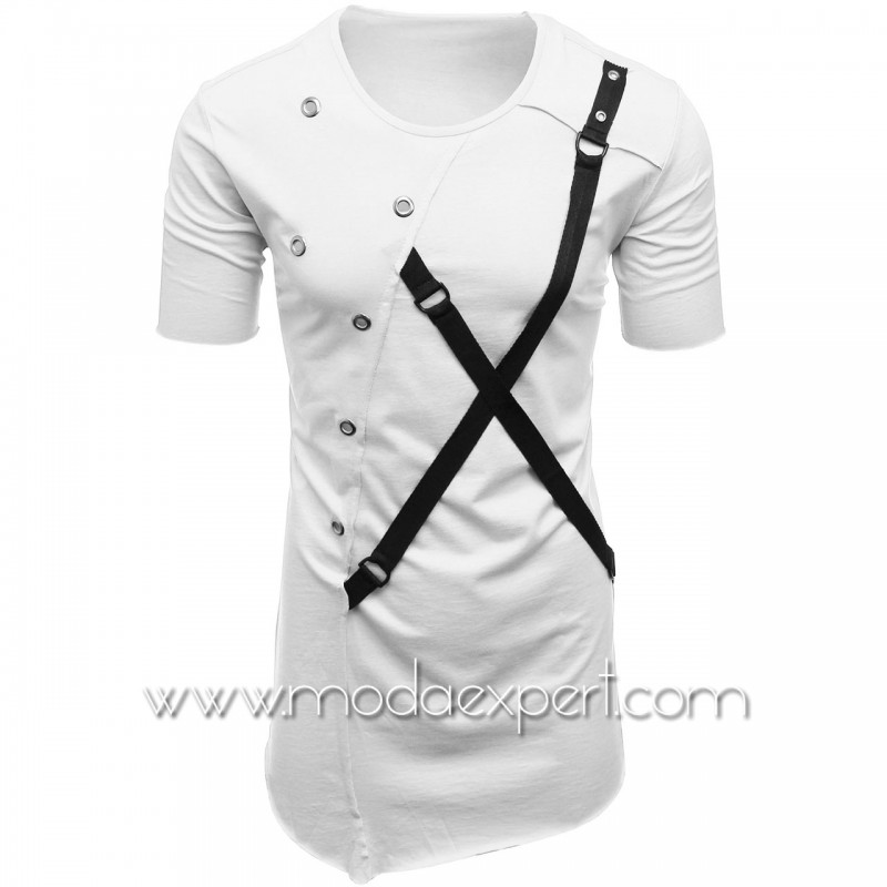 Мъжка тениска с капси №E011-W