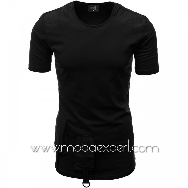 Мъжка тениска с джобове №E012-B
