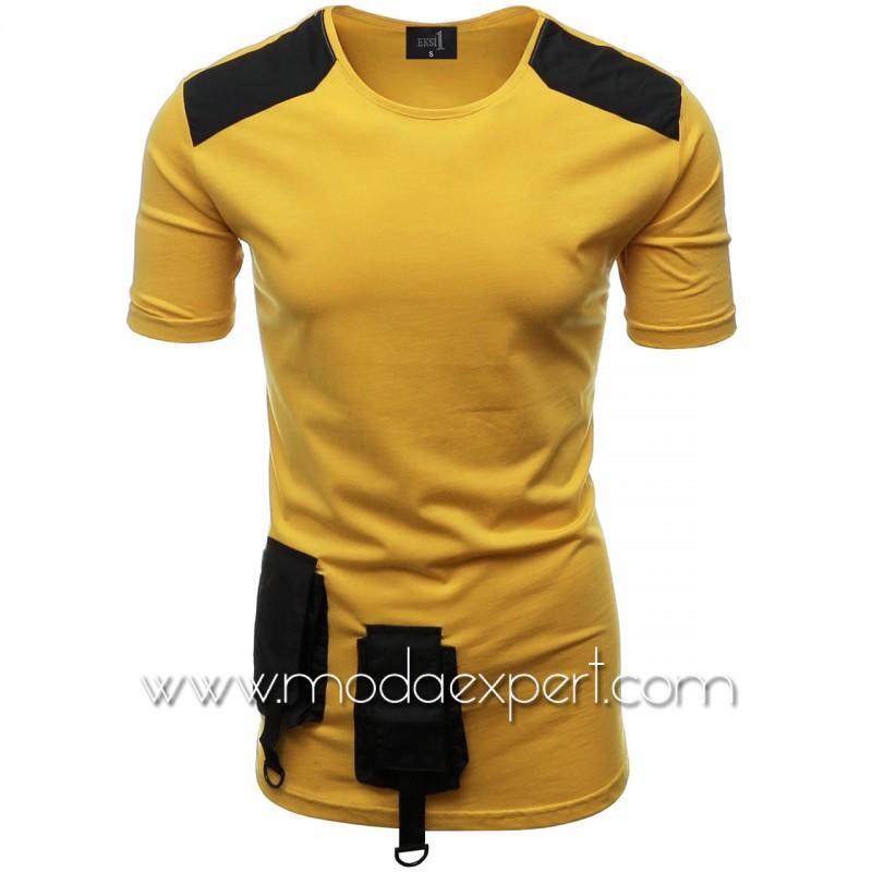 Мъжка тениска с джобове №E012-M