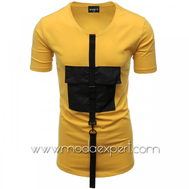 Мъжка тениска с джоб №E015-M