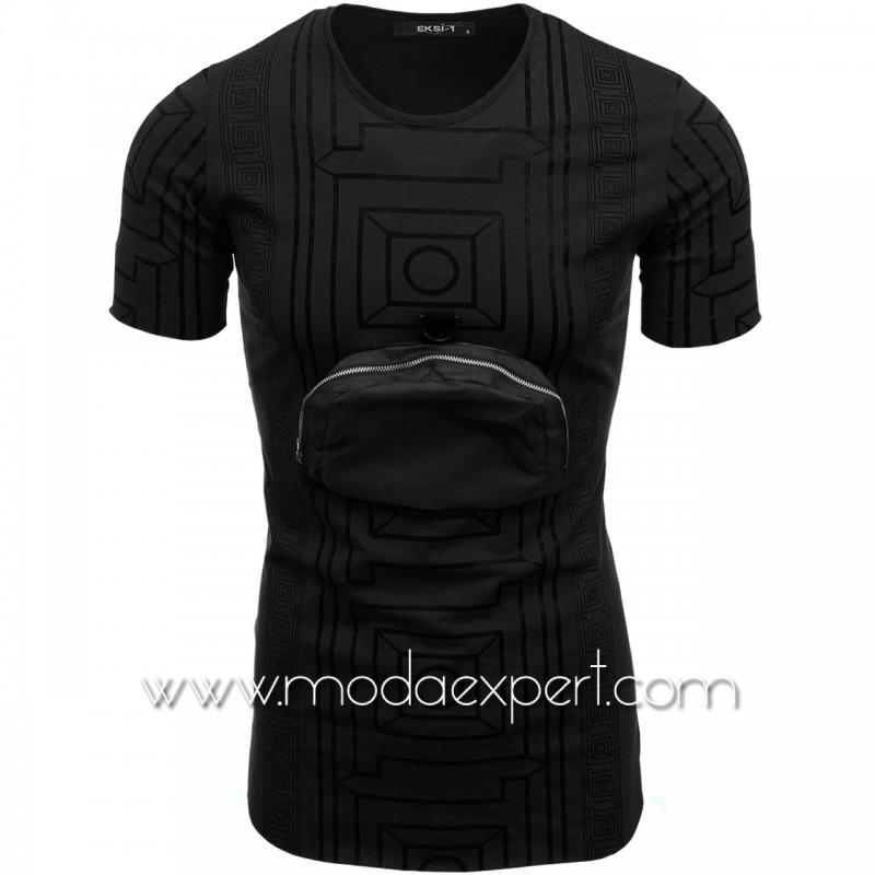 Мъжка тениска с джоб №E099-B