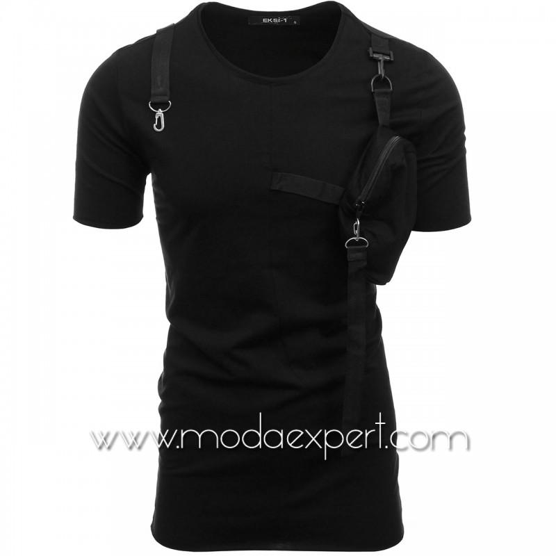 Мъжка тениска с джоб №E146-B