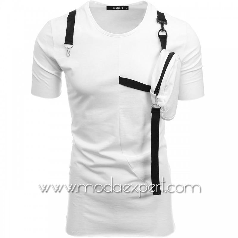Мъжка тениска с джоб №E146-W