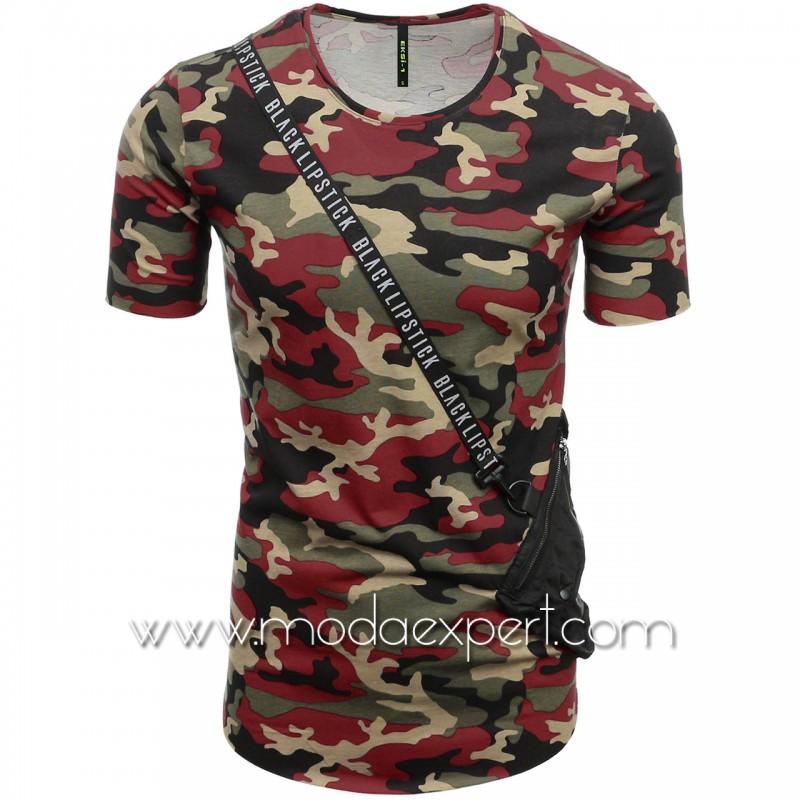 Камуфлажна тениска с джоб №E182-C