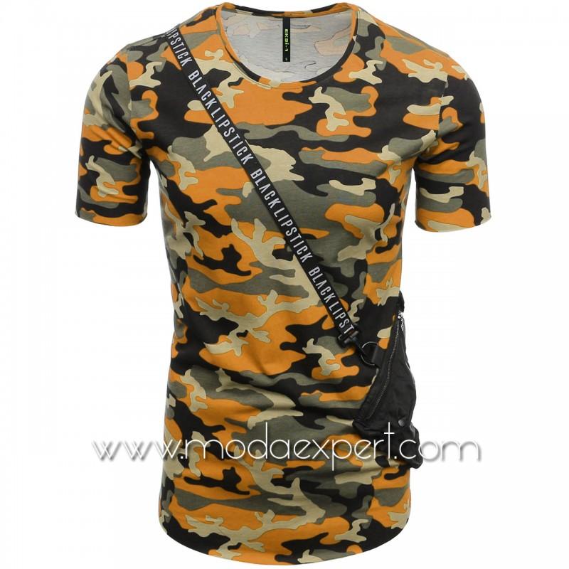 Камуфлажна тениска с джоб №E182-O