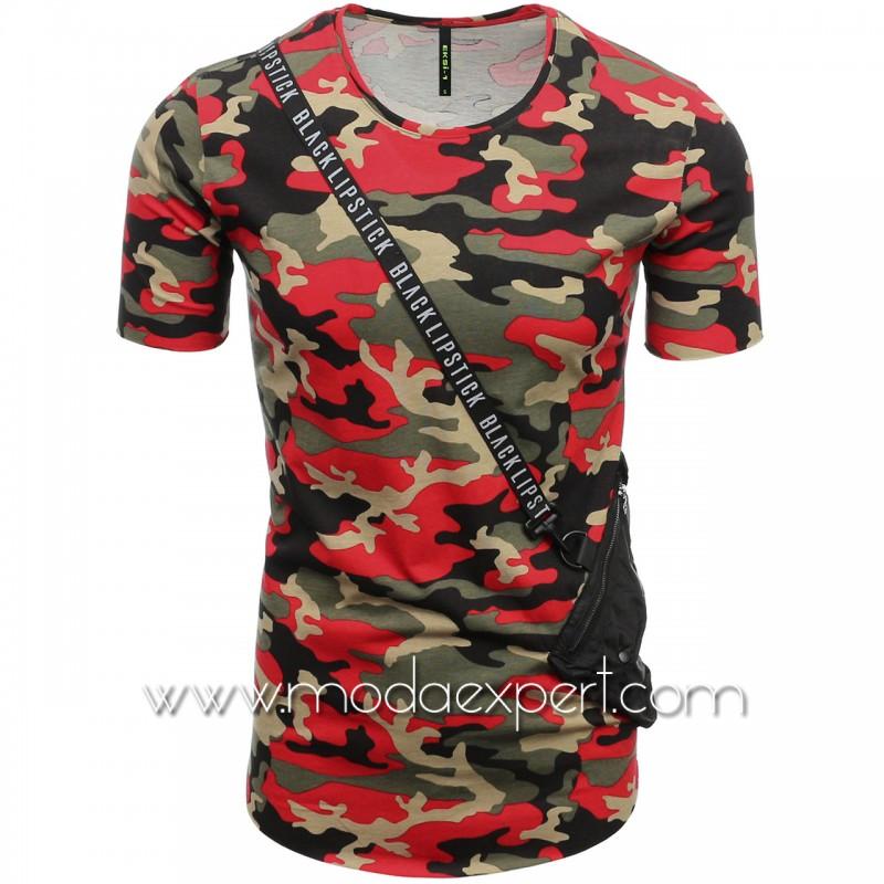 Камуфлажна тениска с джоб №E182-R
