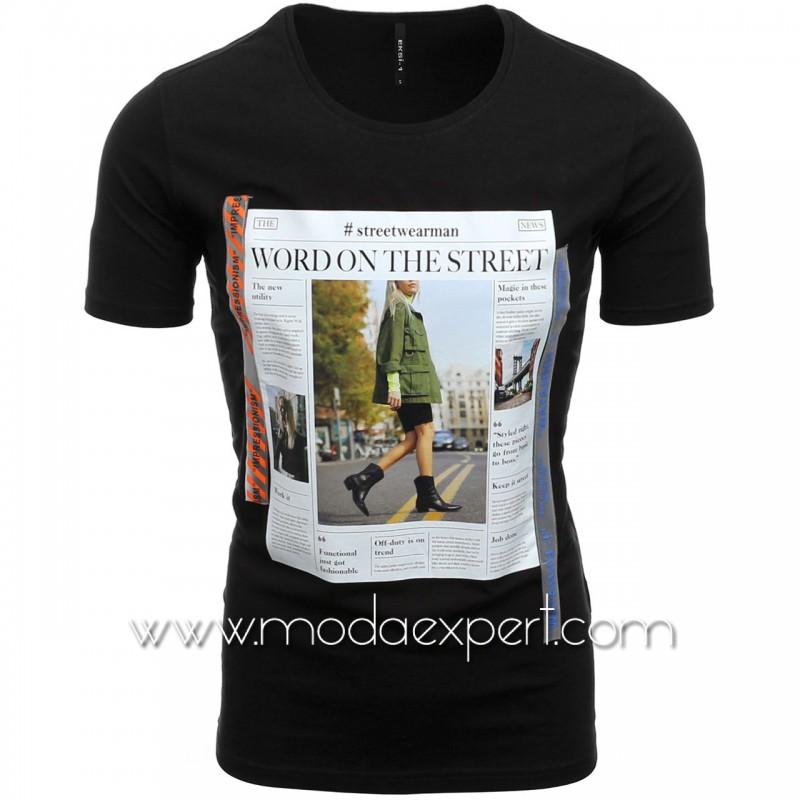 Мъжка тениска с щампа №E188-B