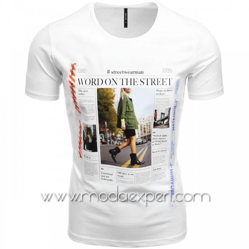 Мъжка тениска с щампа №E188-W
