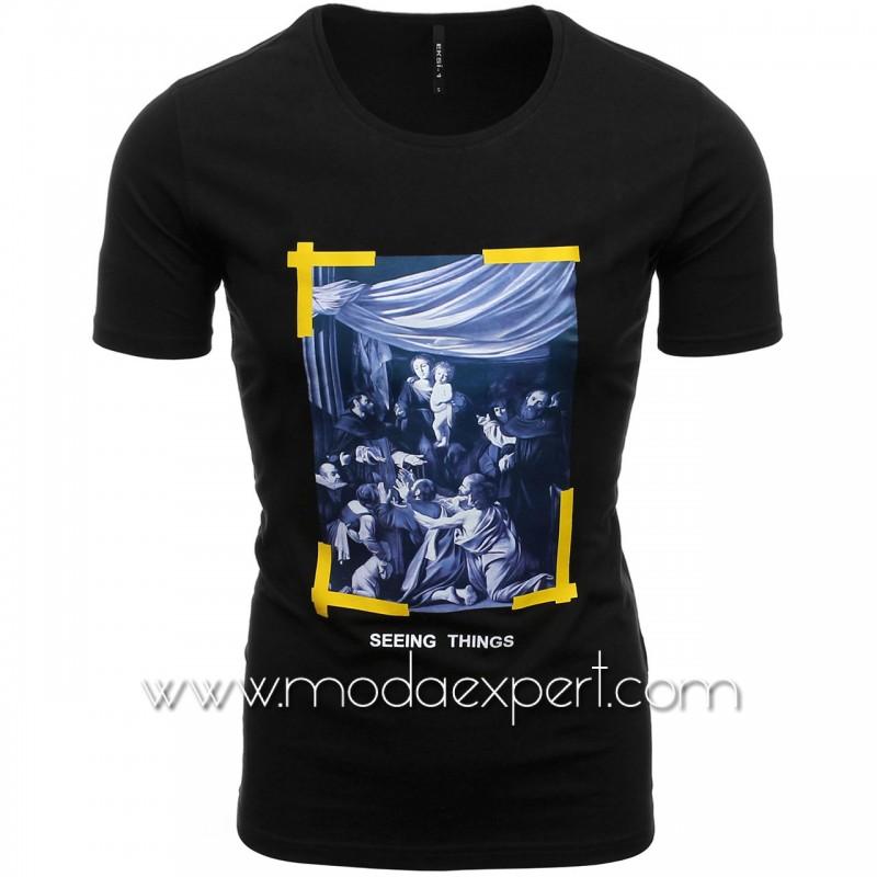 Мъжка тениска с щампа №E190-B