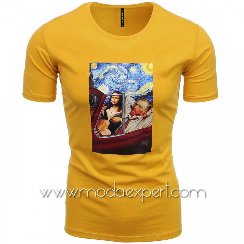 Мъжка тениска с щампа №E196-M
