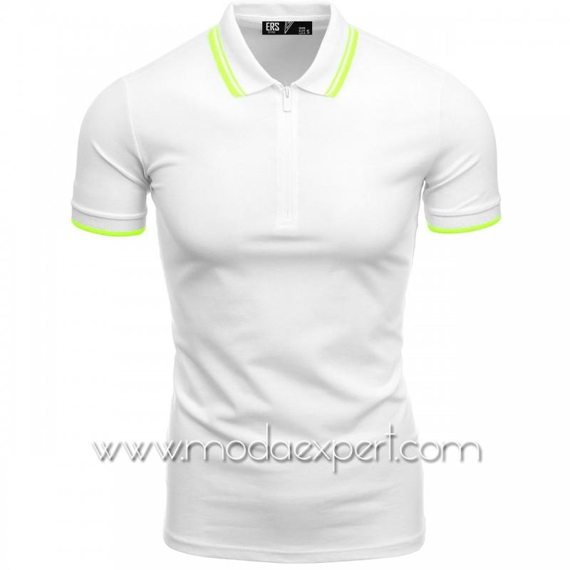 Мъжка тениска с яка №ER2154-W