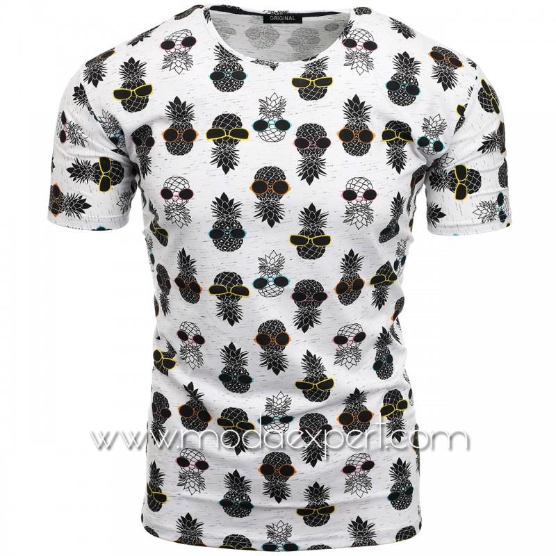 Мъжка тениска с принт F2199BS