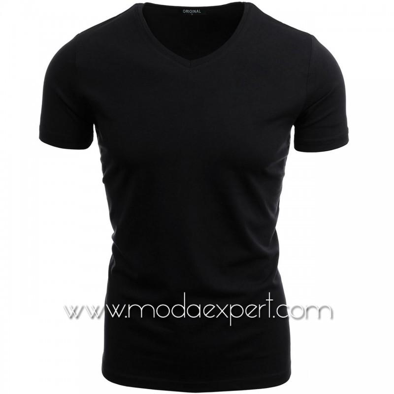 Тениска с V-образно деколте F90-B