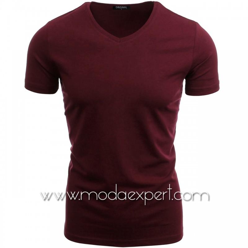 Тениска с V-образно деколте F90-BU
