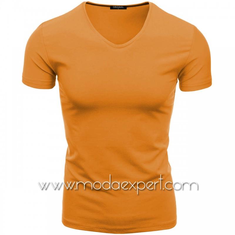 Тениска с V-образно деколте F90-M