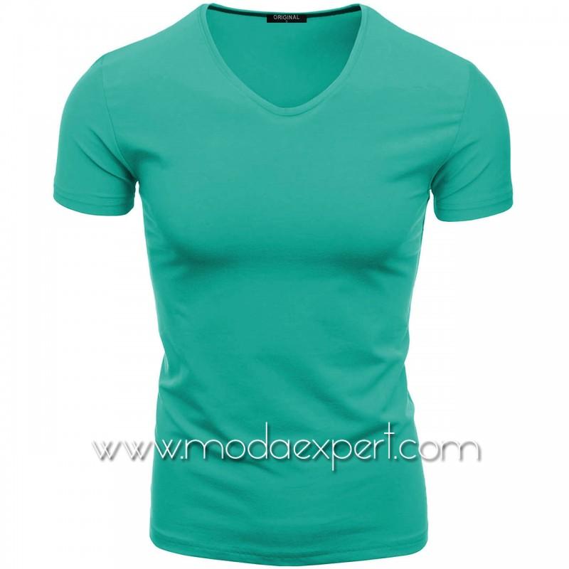 Тениска с V-образно деколте F90-TU