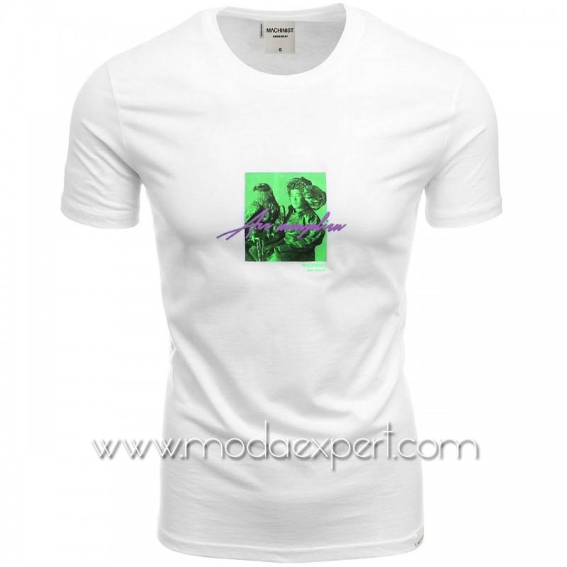 Мъжка тениска с неонова щампа №M1174-W