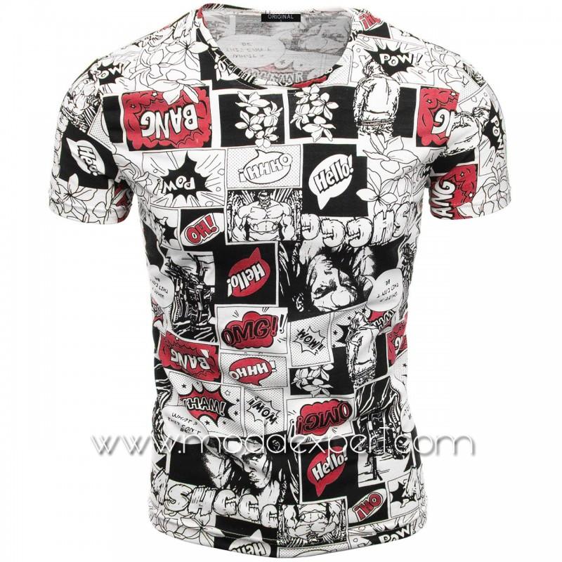 Мъжка тениска с принт V2103
