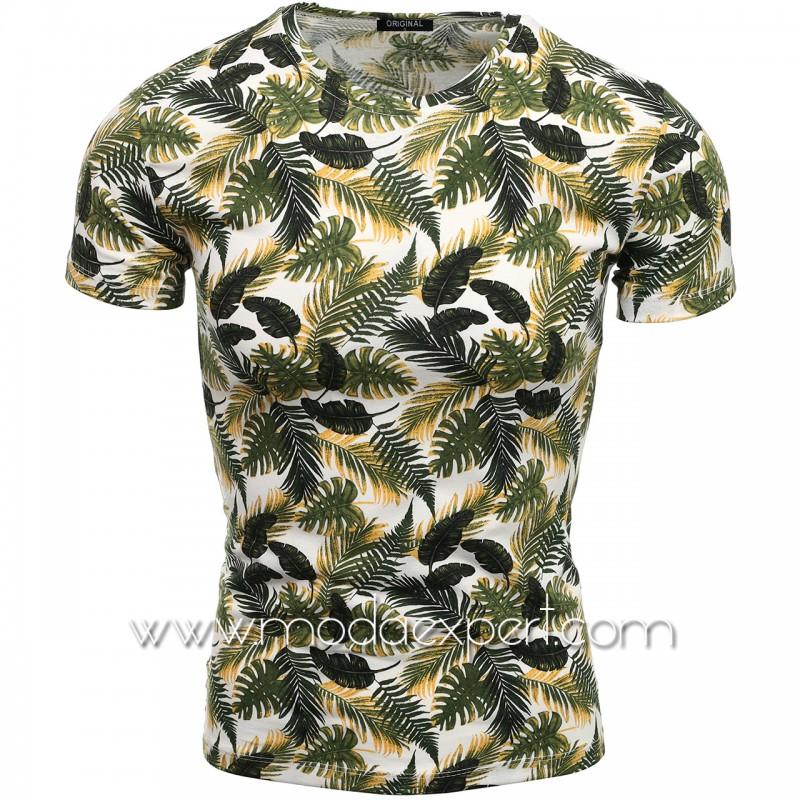 Мъжка тениска с принт V2110