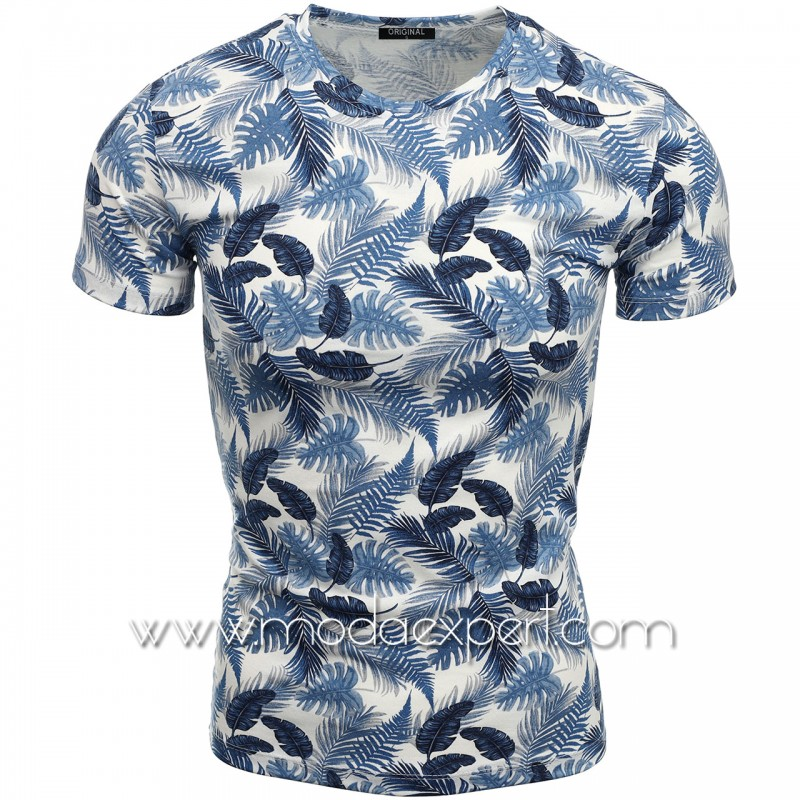 Мъжка тениска с принт V2112