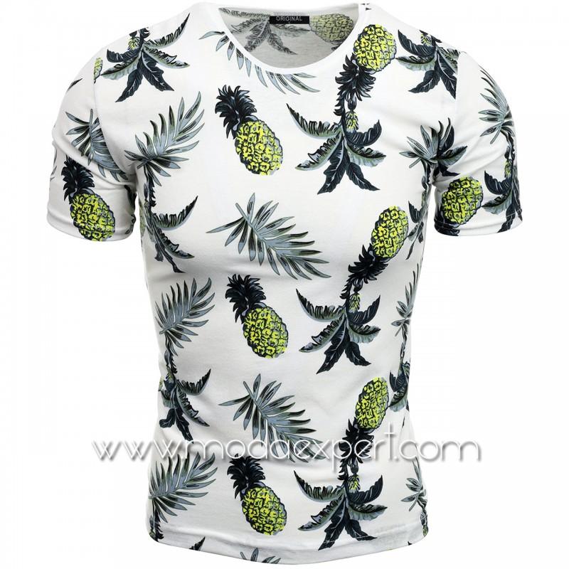 Мъжка тениска с принт V2115
