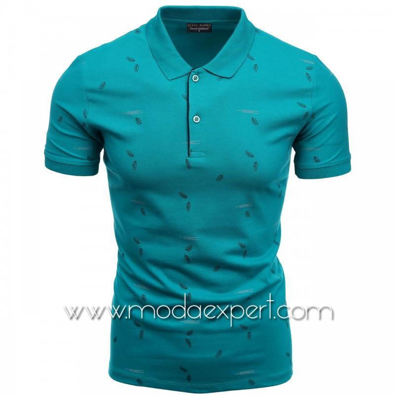 Флорална мъжка тениска BM1337SBL