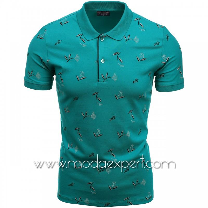 Флорална мъжка тениска BM1339SBL