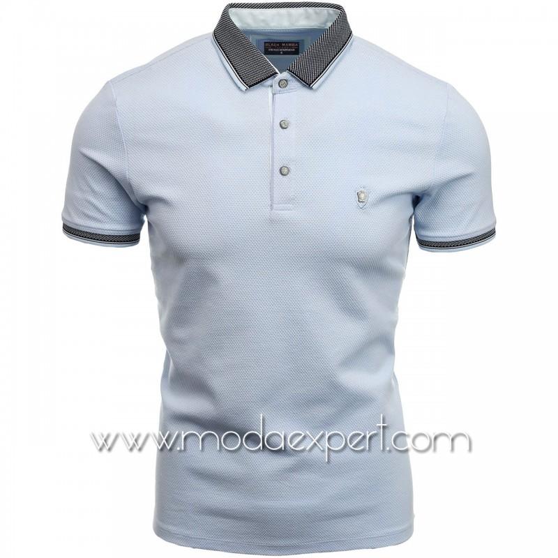 Мъжка тениска с яка BM1465LBL