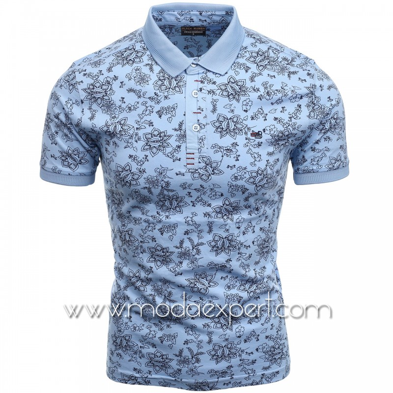Флорална мъжка тениска BM2301LBL