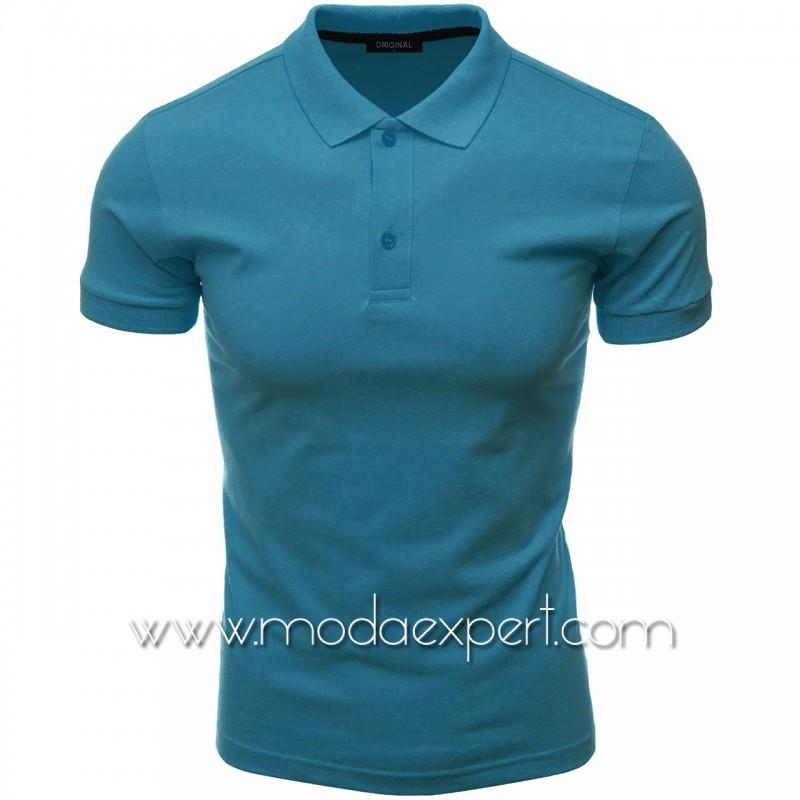 Мъжка тениска с яка F10-BL