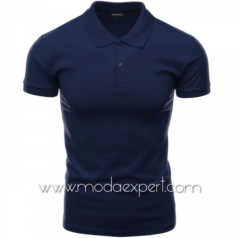 Мъжка тениска с яка F10-DBL
