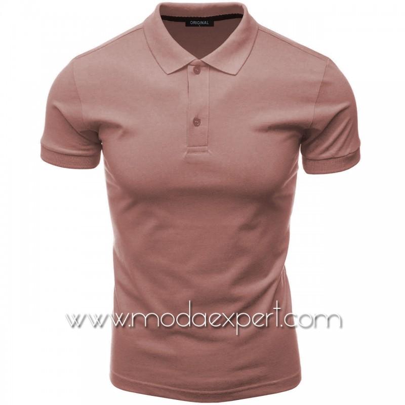 Мъжка тениска с яка F10-DR