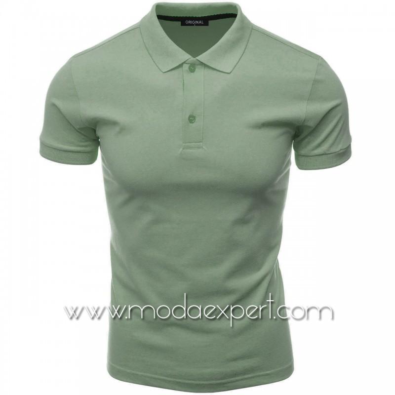 Мъжка тениска с яка F10-DSGR